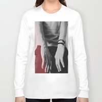 hands Long Sleeve T-shirts featuring Hands by Teodora Roşca