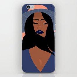 Mindful Woman Art Print iPhone Skin