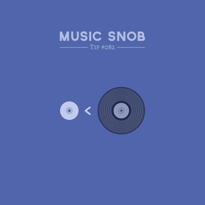 """NOT """"The New Vinyl"""" — Music Snob Tip #082 Duvet Cover"""