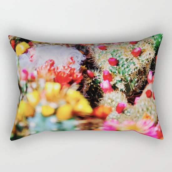 RAINBOW CACTUS CLUSTER PATTERN Rectangular Pillow