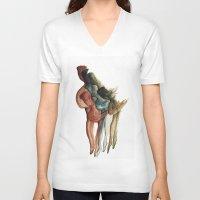 contemporary V-neck T-shirts featuring Contemporary Dance by Mariana Baldaia
