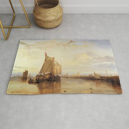 "J. M. W. Turner ""The Dort Packet-Boat from Rotterdam Becalmed"" Rug"