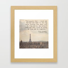 Hemingway in Paris Framed Art Print