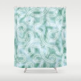 Knotty Abstract Shower Curtain