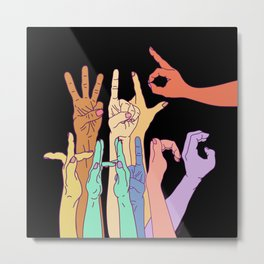 Wild Thing Hand Alphabet Illustration Metal Print