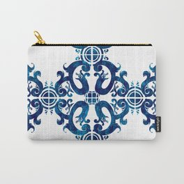 Blue carved tile ceramic effect Carry-All Pouch