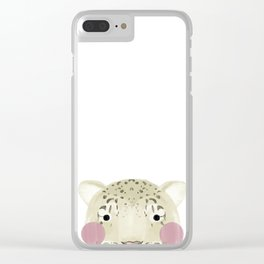 The Snow Leopard Clear iPhone Case