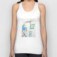 workout Tank Tops featuring Dad's Workout Time by Dozer and Beans