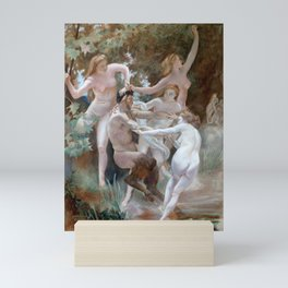 Dancing Nypmhs and a Satyr after Bouguereau Mini Art Print