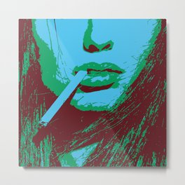 Female portrait closeup AP182-6 Metal Print