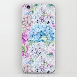 Multicolor Watercolor Hydrangea dream pattern iPhone Skin
