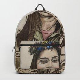 Kacey Rhol, watercolor painting Backpack