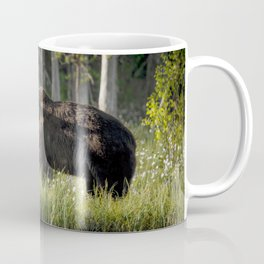 Morning kiss and (brown) bear hug Coffee Mug
