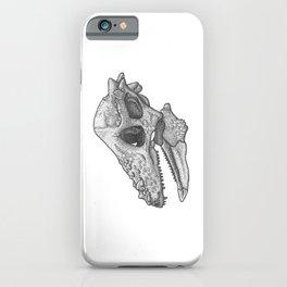 Pachycephalosaurus skull iPhone Case