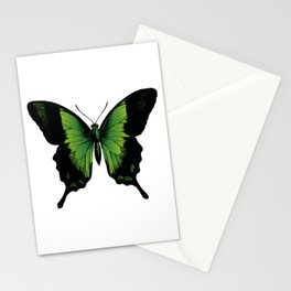 Green Butterfly | Vintage Butterfly | Green and Black | Stationery Cards