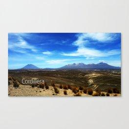 Cordillera Peru Canvas Print