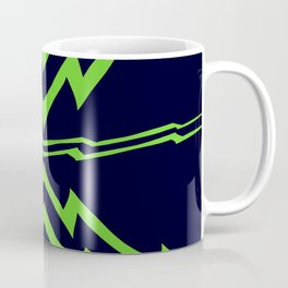 Green Lightning Stripes Coffee Mug