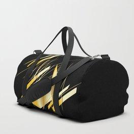 golden treasure abstract geometrical art Duffle Bag