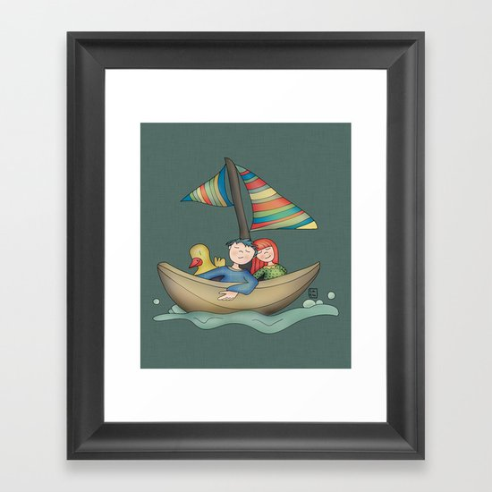 Romance {You and Me in my dreams} Framed Art Print