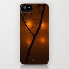 A Twig on a Foggy Night iPhone Case