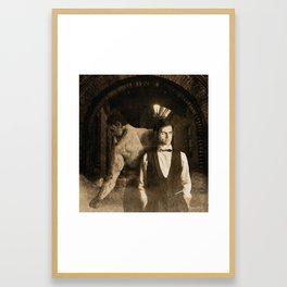 Dark Victorian Portrait: Dr. Jekyll and Mr. Hyde Framed Art Print