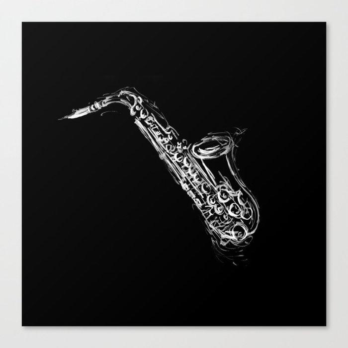 Alto Saxophone Canvas Print by artemasgaleria