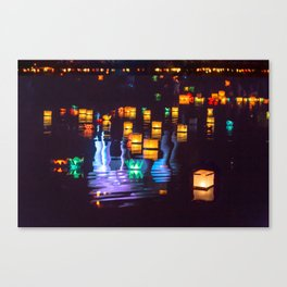 Festival of water lights Canvas Print