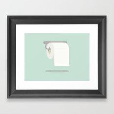 When you gotta go - Toilet Roll Framed Art Print