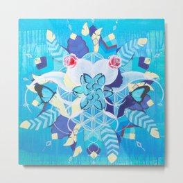 Morpho Mandala Metal Print