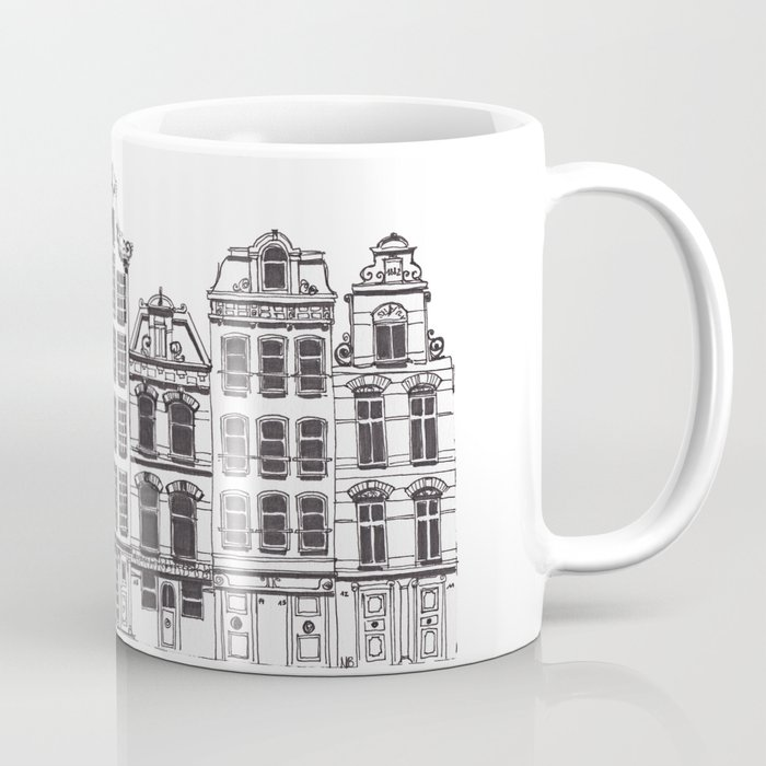 Amsterdam facades illustration Coffee Mug