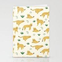 cheetah Stationery Cards featuring Cheetah by Sara Maese