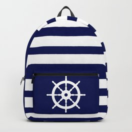 AFE Navy & White Helm Wheel Backpack