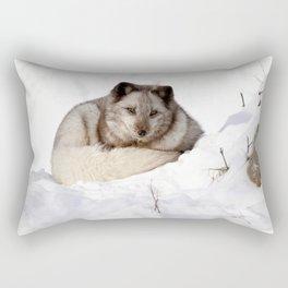 Sweet fox in winter Rectangular Pillow