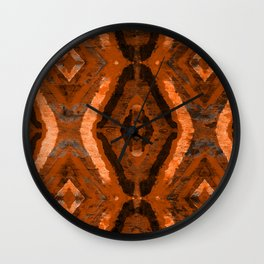 Abstract geometric pattern. Rhombus texture in brown colore Wall Clock