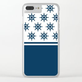 Sailing wheel pattern Clear iPhone Case
