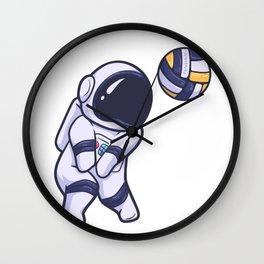 Astronaut Space Volleyball Sport Wall Clock