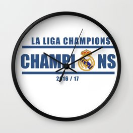 Real Madrid Campeones Champions La Liga 2017 Wall Clock