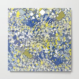 Yellow Blue Grey Metal Print