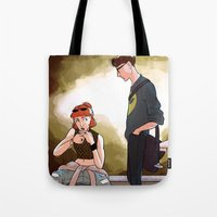 scully Tote Bags featuring Hey Scully... by Jena Young