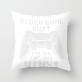 Gamer Controller Gift I'm The Video Game Boy Throw Pillow