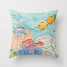 The Southern Sea Throw Pillow