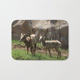 Wild Bighorn Sheeps Bath Mat