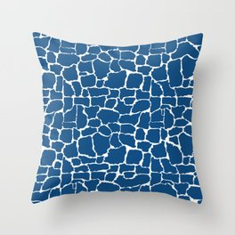 Classic Blue Giraffe Throw Pillow