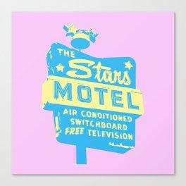 Seeing Stars ... Motel ... (Pink Background) Canvas Print