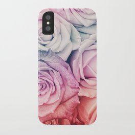 Some people grumble II  Floral rose flowers pink and multicolor iPhone Case