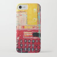 typewriter iPhone & iPod Cases featuring TYPEWRITER by Kathy Augustine