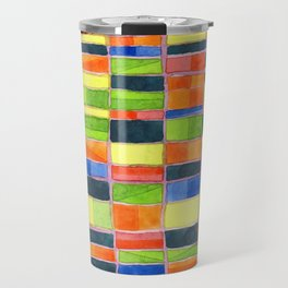 Warm Spring Time Grid Travel Mug