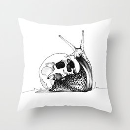 This Skull Is My Home Throw Pillow
