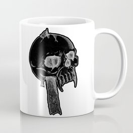 Impaled Skull - Black Coffee Mug