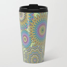 Kaleidoscopic-Jardin colorway Travel Mug